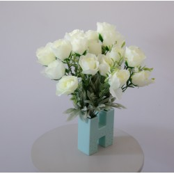cream roses bud bouquet from 3 bunches