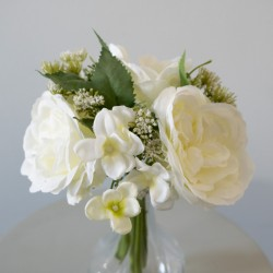 Wedding bouquet in cream